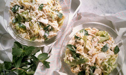 Small touches like mint can make a chicken salad stand out.
