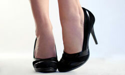 Black pumps are a staple for the office.
