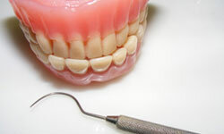 Dentures should be fitted properly and should be cleaned.