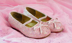 Protect princess slippers by rolling out a red carpet.