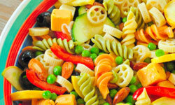 Just about any ingredient in your fridge, freezer or pantry can go in a pasta salad.