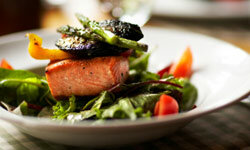 Salmon contains artery-clearing omega-3 fatty acids.