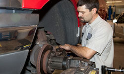 Having a certified mechanic periodically check your brakes ensures that your auto is safe to drive. See more pictures of brakes.