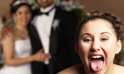 Some couples don't know their wedding was crashed until they see the photos.