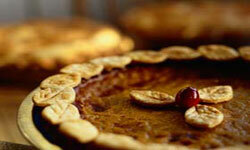 Nothing says fall quite like homemade pumpkin pie. See more pictures of holiday baked goods.