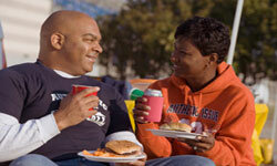 When you think of tailgates, you can practically smell the hamburgers sizzling on the grill and feel the fall chill in the air.