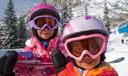 These little skiers could easily come home with chapped lips.
