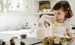 This little girl is, no doubt, using the best possible ingredients.