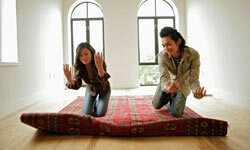Take advantage of the move to have rugs, drapes and other soft goods dry cleaned so they're fresh and clean when you move in.