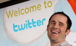 Twitter co-founder and CEO Evan Williams is hanging on to the company for now.