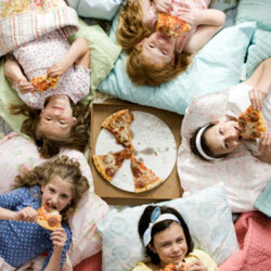 Pizza and sleepovers: Kid-tested, serenity parenting-approved.