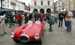 The California Melee is a parody of other Mille races. Here, a vintage Maserati attends the Mille Miglia 2010, in Brescia, Italy.