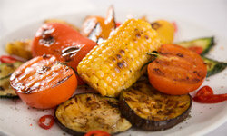 Feeding a crowd of vegetarians? You can still fire up the grill if you toss eggplant on the coals instead of steak.