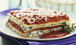With all that cheesy flavor, no one will even notice the lasagna is without meat.