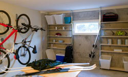 Shelves, pegboards and hooks can help streamline your garage makeover.
