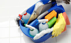 A good spring cleaning always involves a thorough scrubbing. You can use conventional cleaning supplies or make your own eco-friendly products.