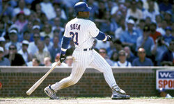 Sammy Sosa of the Chicago Cubs in 1999