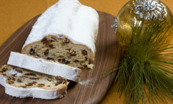 Stollen bread is a traditional Christmas treat in Germany. See more pictures of holiday baked goods.