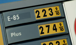 Different fuels have different energy content per gallon, so they have to be compared by the average price per unit of energy.