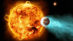 Monstrous Alien World Orbits Puny Red Dwarf Star