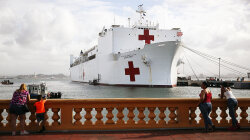 How the Navy Ship Comfort Is Aiding Puerto Rico