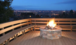 Including features like a fire pit can make your deck addition more special.