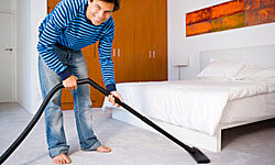 Regular cleaning is critical to keeping allergens at bay in the bedroom.