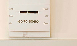 Use your thermostat to regulate the humidity in your bedroom.