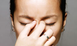 Allergic reactions may include runny nose, sneezing and itchy,watery eyes.
