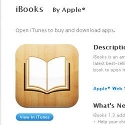The iBooks app for the iPhone and other iOS devices.