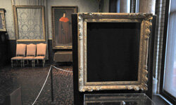 Frames at Boston's Isabella Stewart Gardner Museum that once held paintings by Rembrandt and Vermeer have been empty since 1990, when thieves committed history's largest art heist. The crime remains unsolved, and 13 works of art are still missing.