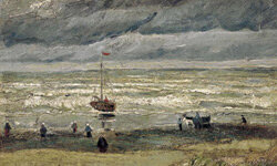 "The 1882 painting ""View of the Sea at Scheveningen"" was one of two works stolen from the Van Gogh Museum in Amsterdam."