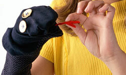 Each child can bring an old sock to make sock puppets.