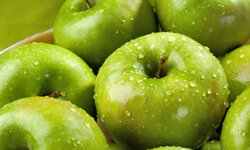 Granny Smith apples have a tart flavor to go with their sassy green color.