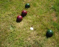 Bocce ball is a backyard favorite.