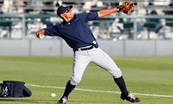 Sports Image Gallery Alex Rodriguez of the New York Yankees warms up before a Grapefruit League game against the Baltimore Orioles in March 2011. See more sports pictures.