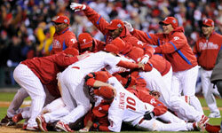The Philadelphia Phillies celebrate after winning the 2008 World Series – a far cry from the losing streaks of old.