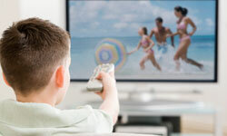 Obesity is a growing problem among kids and teens but parents can help by limiting the amount of TV their kids watch.