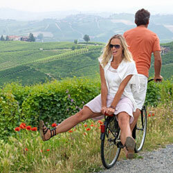 You can travel with a group during your bike tour, or go it alone.