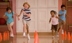 If your child and his or her friends are sporty, set up some fun games at the local gym.