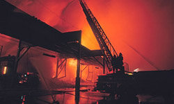 Fires don't destroy bridges very often, but they can cause a lot of damage when they do.