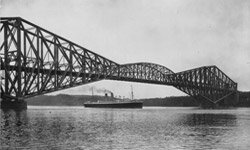 The Quebec Bridge collapsed twice during construction before finally being built.