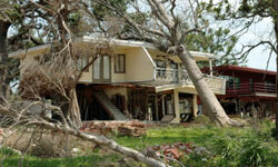 Damage like this is the exact reason you need homeowners insurance.