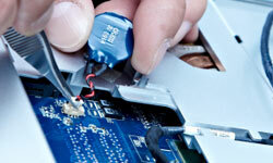 Sometimes, disconnecting components from your laptop, including your battery, can be tricky business. If you're uncomfortable with such repairs, take your computer to a trained technician to make sure the job's done right.