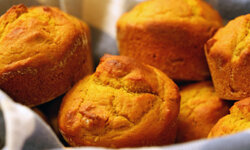 Pumpkin muffins would also be a good addition to any breakfast table.