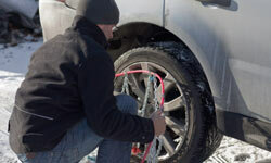 Depending on conditions where you live, you might need to put snow chains on your tires.
