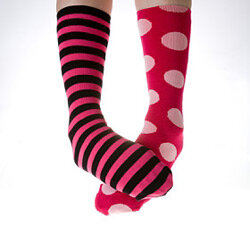 Want to keep all that nasty moisture away from your feet? Wear socks.