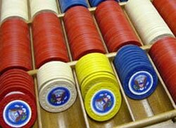 Poker chips of President Harry S. Truman.