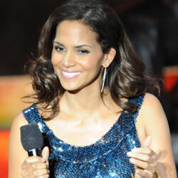 Halle doesn't need a glittery dress to sparkle.