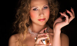 Perfume is often the finishing touch for a lovely lady.